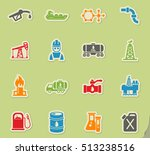 extraction of oil web icons on... | Shutterstock .eps vector #513238516