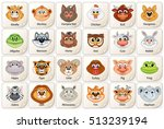game card or icon with cute... | Shutterstock .eps vector #513239194