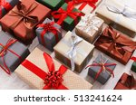 lots of gift boxes on white... | Shutterstock . vector #513241624