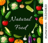 natural vegetarian food banner... | Shutterstock .eps vector #513243820