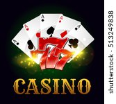 Casino Poster. Poker Game Aces...