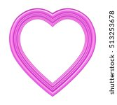 pink heart picture frame... | Shutterstock . vector #513253678