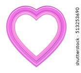 pink heart picture frame... | Shutterstock . vector #513253690