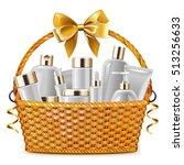 vector gift basket with... | Shutterstock .eps vector #513256633