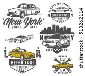 set of taxi car for emblems... | Shutterstock .eps vector #513262114