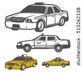 set of taxi car for emblems... | Shutterstock .eps vector #513262138