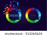 the debate or discussion logo.... | Shutterstock .eps vector #513265624