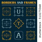 set of luxury borders and