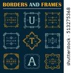 set of luxury borders and
