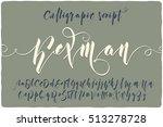 elegant calligraphic script... | Shutterstock .eps vector #513278728