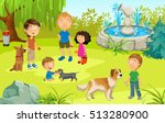 Cartoon Illustration Of Pet...