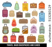 travel bags backpacks and cases ... | Shutterstock . vector #513283129