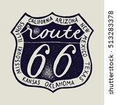 route 66 biker travel print. | Shutterstock .eps vector #513283378