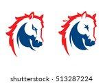 mustang sport mascot. horse... | Shutterstock .eps vector #513287224