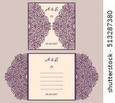 wedding invitation or greeting...   Shutterstock .eps vector #513287380