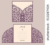 wedding invitation or greeting... | Shutterstock .eps vector #513287434