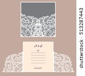 wedding invitation or greeting... | Shutterstock .eps vector #513287443