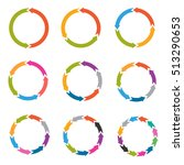 circle arrows with options ... | Shutterstock . vector #513290653