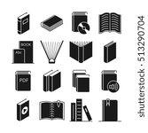 books icons. literature book... | Shutterstock . vector #513290704