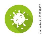 virus cell flat design long... | Shutterstock .eps vector #513290998