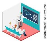 isometric flat 3d concept... | Shutterstock .eps vector #513295390