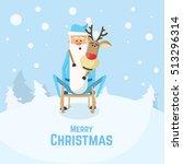 christmas illustration of santa ... | Shutterstock .eps vector #513296314