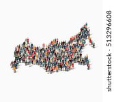 people map country russia vector | Shutterstock .eps vector #513296608