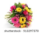 color wedding bouquet made of... | Shutterstock . vector #513297370