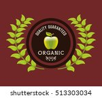 organic food product icon... | Shutterstock .eps vector #513303034