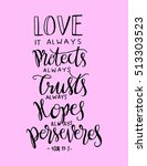 love. it always protect  always ... | Shutterstock .eps vector #513303523