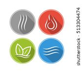 four forces elements. water ... | Shutterstock .eps vector #513304474