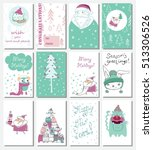 collection of christmas... | Shutterstock .eps vector #513306526