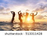 group of young people having... | Shutterstock . vector #513311428