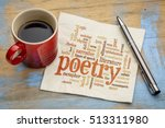 poetry word cloud on a napkin... | Shutterstock . vector #513311980