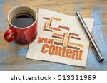 business writing and content... | Shutterstock . vector #513311989