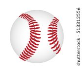 baseball ball icon image  | Shutterstock .eps vector #513312556
