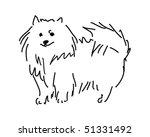Vector Spitz Dog Sketch