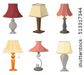 set of table lamps. vector... | Shutterstock .eps vector #513317344
