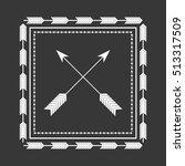 rustic decorative style icon...   Shutterstock .eps vector #513317509