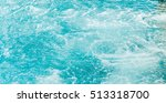blue swimming pool rippled water | Shutterstock . vector #513318700