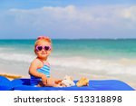 cute little girl play with... | Shutterstock . vector #513318898