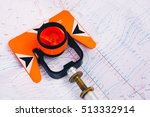 orange theodolite prism  lies... | Shutterstock . vector #513332914