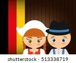 german oktoberfest cartoon icon ...   Shutterstock .eps vector #513338719
