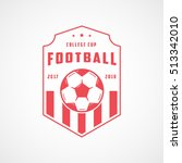 football emblem red line icon... | Shutterstock .eps vector #513342010