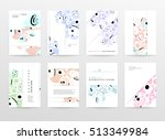 annual report brochure template ... | Shutterstock .eps vector #513349984
