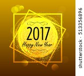 happy new year lettering... | Shutterstock .eps vector #513356896