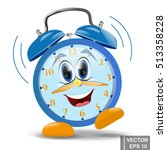 cartoon. alarm clock. morning.... | Shutterstock .eps vector #513358228