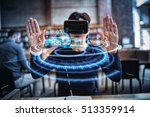 digital interface of house... | Shutterstock . vector #513359914
