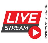 live stream red vector design... | Shutterstock .eps vector #513362203