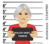 arrested senior woman posing... | Shutterstock .eps vector #513365980